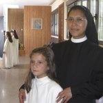 La hermana Teresita, la pasada semana, en ocasión de la Primera Comunión de sus alumnos de Catequesis
