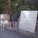 Pintores en las calles de Torrelodones en el Concurso de Pintura en Directo Rafael Botí