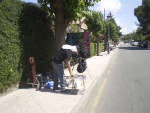Pintores en las calles de Torrelodones