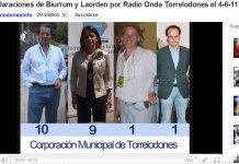Declaraciones radiales de Elena Biurrum y Javier Laorden