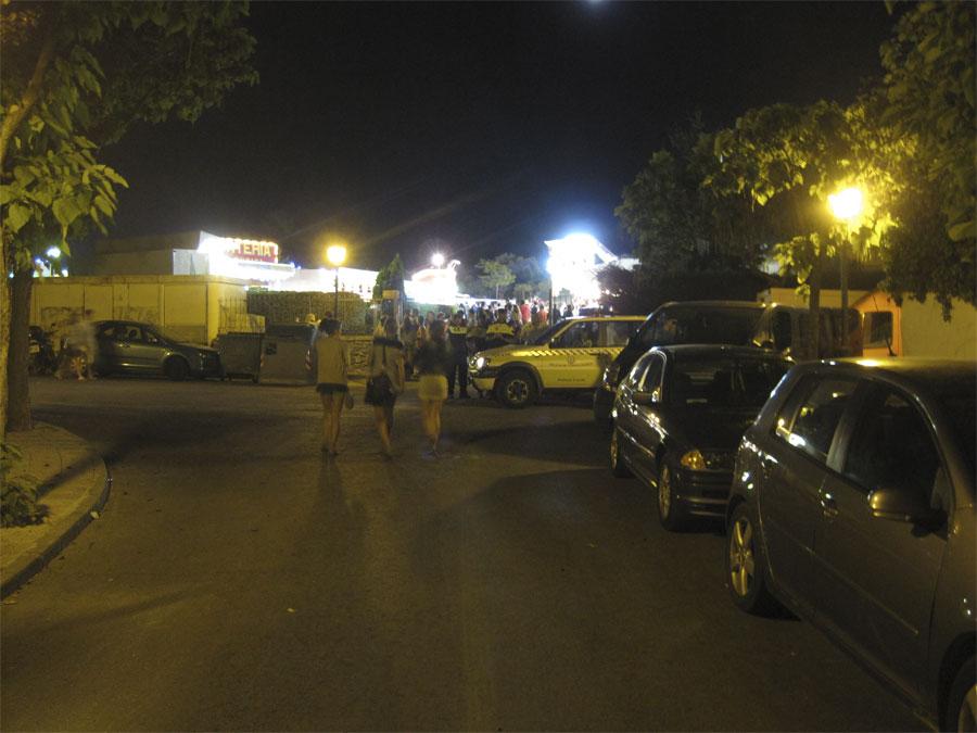 Fuegos artificiales en las Fiestas de la Colonia de Torrelodones 2011