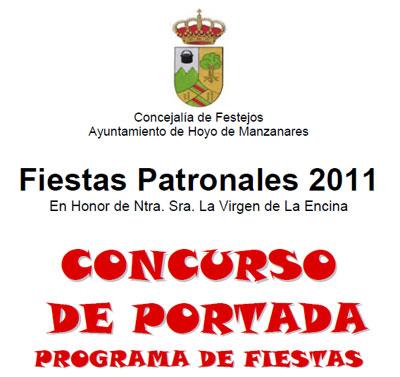 Concurso Portada Programa Fiestas de Hoyo de Manzanares