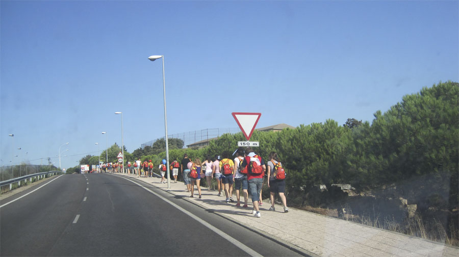 Torresanos saludando al Santo Padre - Foto gentileza de juanangelTC