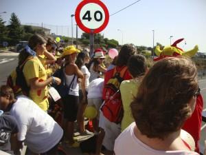 Esperando al Papa en Torrelodones