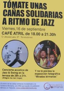 Cañas solidarias a ritmo de Jazz en Torrelodones