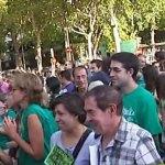 Diego Velázquez de Torrelodones en la manifestación por la enseñanza pública