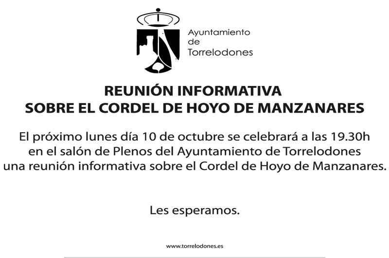Reunión informativa sobre el Cordel de Hoyo de Manzanares