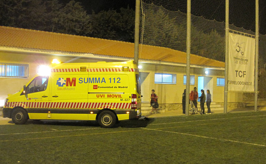 Accidente en el Torrelodone C.F.