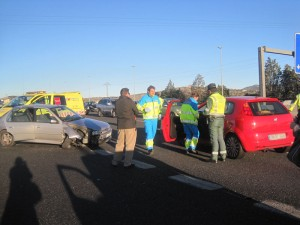 Accidente en la A6 - Torrelodones