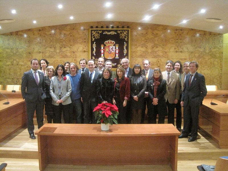 Corporación Municipal de Torrelodones en el Homenaje a la Constitución Española (5/12/2011)
