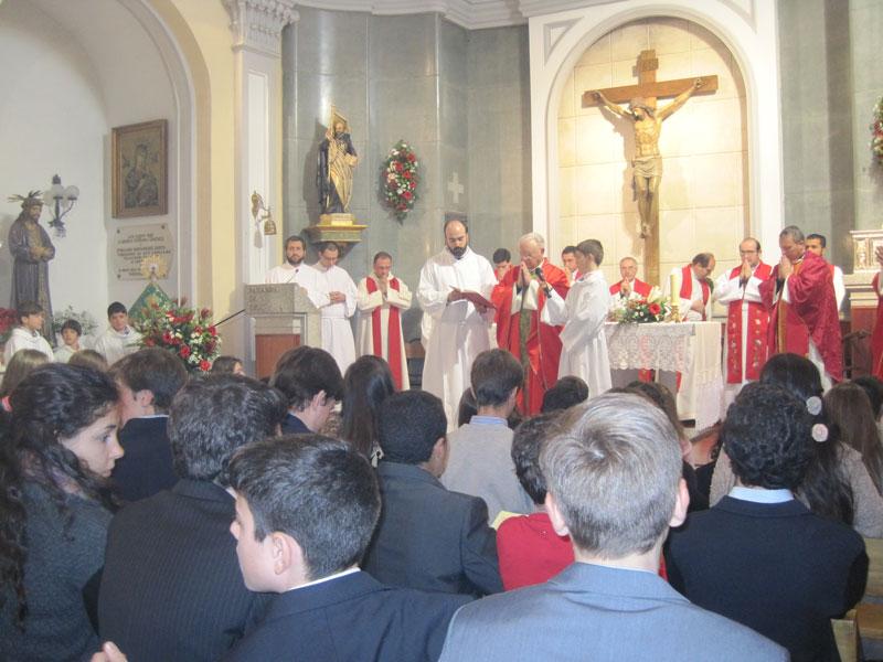 Confirmaciones en la Parroquia San Ignacio, Torrelodones 18-2-2012