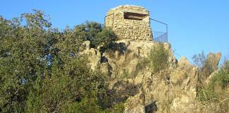 """Observatorio """"posición Lince"""", junto al Canto del Pico,Torrelodones. (Foto: A.E.A.C.)"""