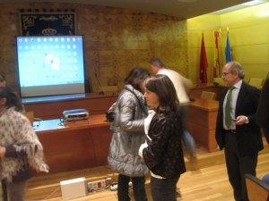 Entre los presentes, estaba la Alcaldesa y el Jefe del Servicio Municipal de Deportes, José Mur