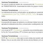 Tuits de Vecinos por Torrelodones durante el Pleno del martes 13/3/2012