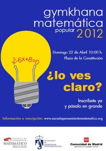 Gymkhana Matemática Torrelodones 2012
