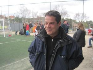 Jorge Sanz, en el Minifútbol de Torrelodones