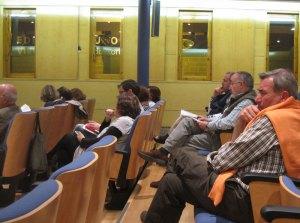 Miembros de la Sociedad Caminera de Real de Manzanares en el Pleno
