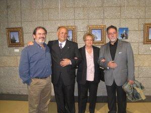 Miguel Ángel Mur, D. Serapio Calvo y Sra., y Antonio Martos