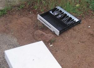 Caja recuperada por la Guardia Civil