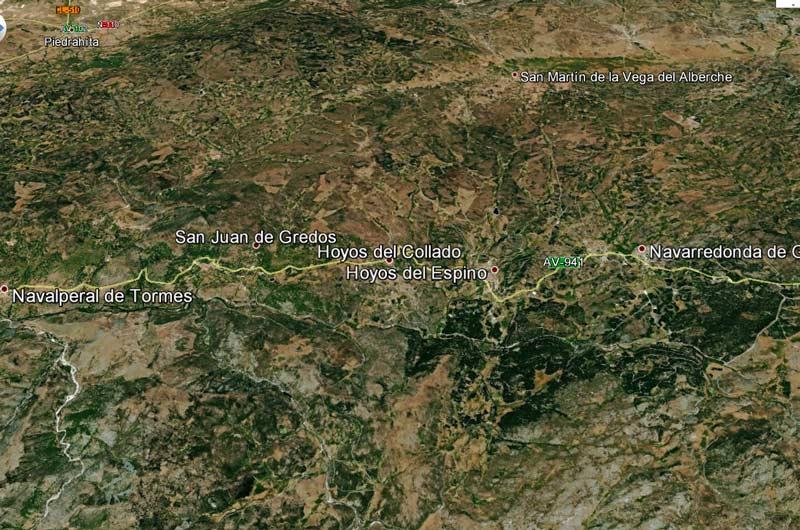 Hoyos del Collado (screen shot de Google Earth)
