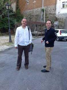 Reunión de Juan Bidart con Santiago Fernández por la colonia