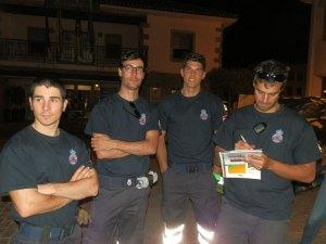 Miembros de Protección Civil de Torrelodones participantes del rally