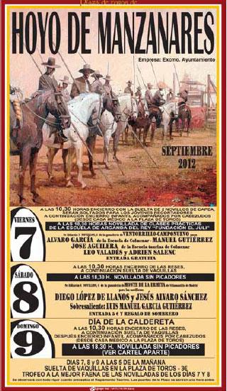 Cartel Fiestas de Hoyo de Manzanares 2012