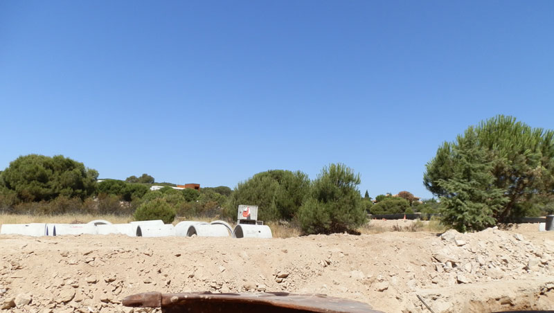 Obras de urbanización en Las Marías, Torrelodones