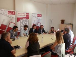 Reunión ejecutiva PSOE Torrelodones con Tomás Gómez