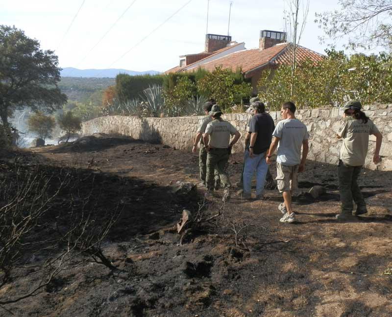 Incendio intencional en El Gasco