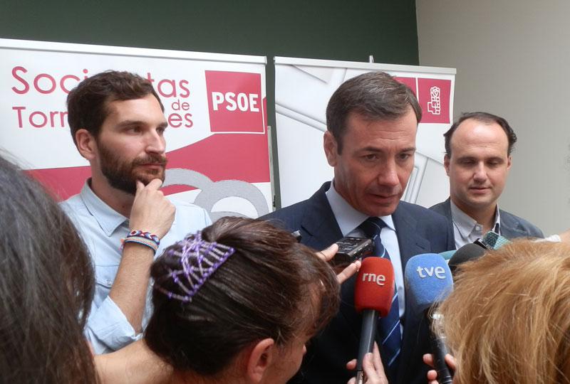 Rueda de Prensa Tomás Gómez en Torrelodones