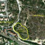 Zona de los 2 incendios en Las Marías, Torrelodones