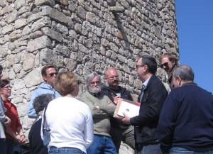 Foto de la visita de la AEAC a la Atalaya de Torrelodones el 24-03-2012