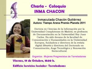 Charla-coloquio con Inma Chacón en Torrelodones
