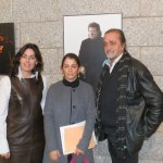 Presentación del IX Festival de Flamenco de Torrelodones. La Alcaldesa y la Concejal de Cultura con Juan Verdú