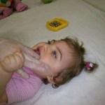 Estimulando la boca para que algún día pueda comer