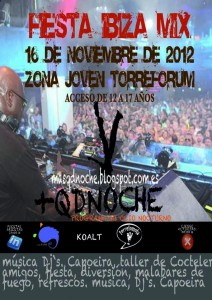 Cartel Disco Light Torreforum +QDNOCHE 16-11-2012