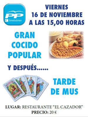 Cocido + Mus del PP de Torrelodones (16-11-2012)