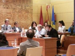 El portavoz de acTÚa, Rubén Díaz, al solicitar la reprobación del concejal de Deportes, Juventud y Fiestas