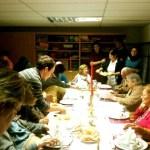 Cena de Nochebuena en la Residencia Santa María de Los Ángeles, Torrelodones (Foto: Rocío Delgado Turell)