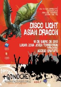 """Disco Ligth """"Asian Dragon"""" en el Centro Joven Torreforum"""
