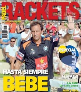 "Portada de ""Pádel Rackets"" de diciembre 2013, dedicada a Hernán Auguste."