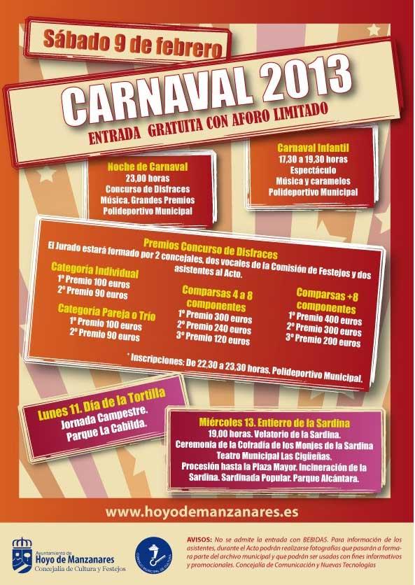 Programa de Carnaval Hoyo de Manzanares 2013