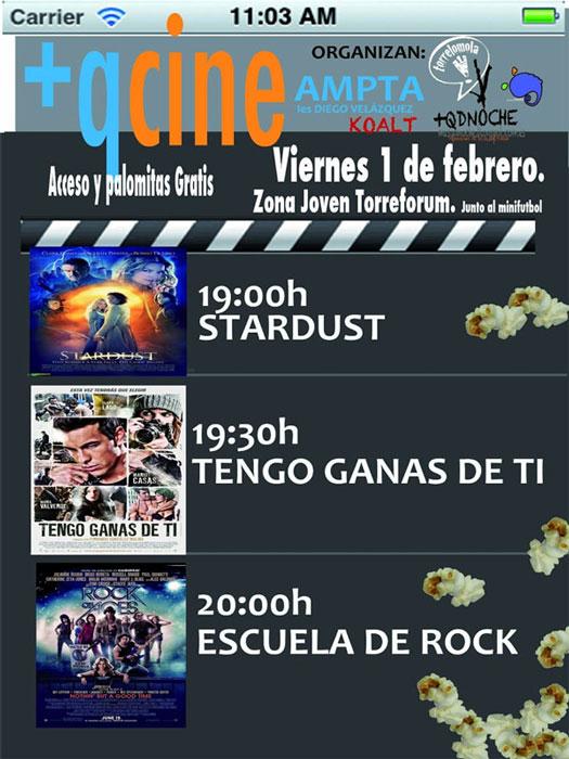 Viernes 1/2/2013: Cine y palomitas gratis para jóvenes en Torrelodones