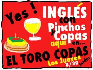 """Inglés con Pinchos y Copas en """"El Toro Copas"""" de Torrelodones"""