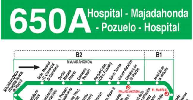 Línea de autobuses 650A