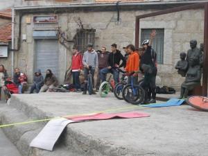Quedada de monociclistas en Torrelodones (Foto: Fernando Villaverde)
