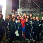 Las jugadoras de los equipos femeninos Sub-13 del Torrelodones, se fotografiaron con las estrellas de la Selección Femenina