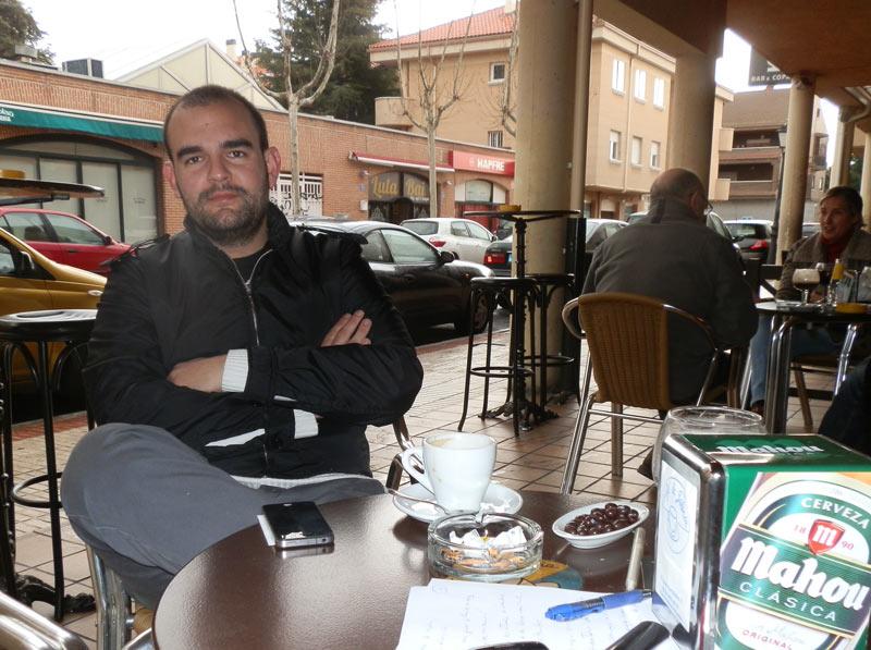 Arturo Romero, joven publicista de Torrelodones durante la entrevista