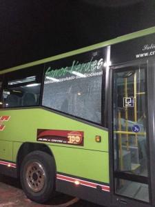 Nuevo acto vandálico contra un autobús de Torrelodones